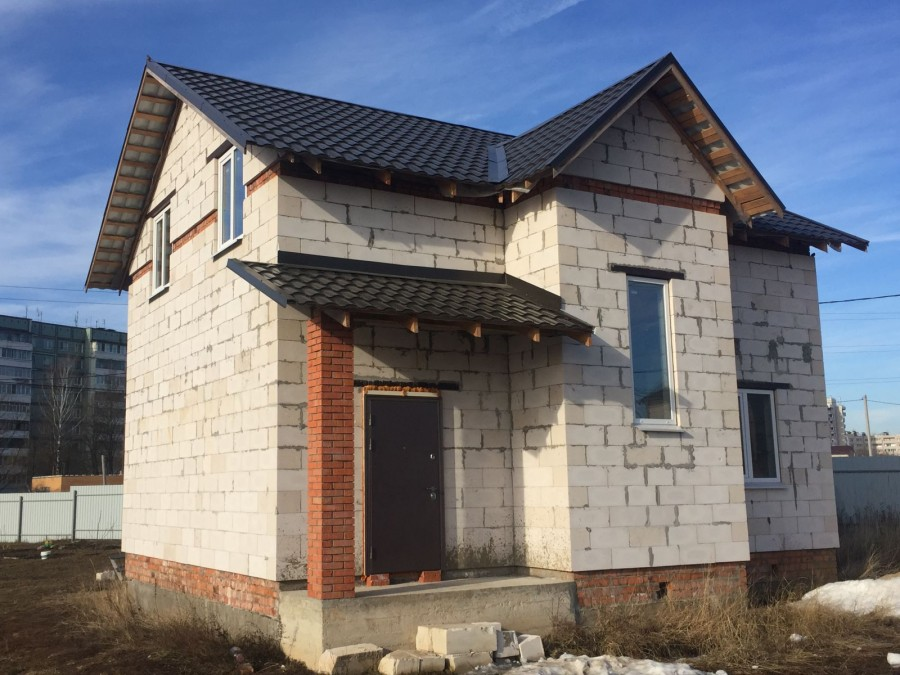 дом из пеноблока фото